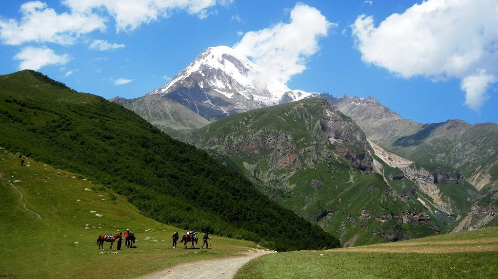 sag Georgia+Il+Monte+Kazbek+nel+Caucaso
