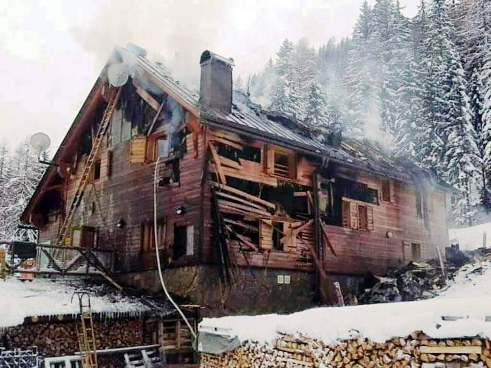 4.4 Il rifugio dopo l'incendio del 12 febbraio 2016