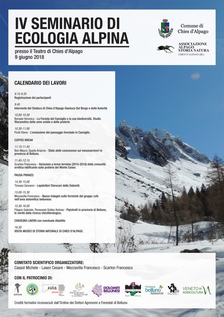 programma IV Seminario Ecologia Alpina