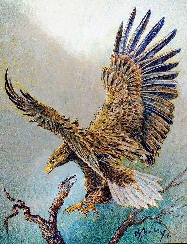 Aquila di mare Acrilico su tela di FP res