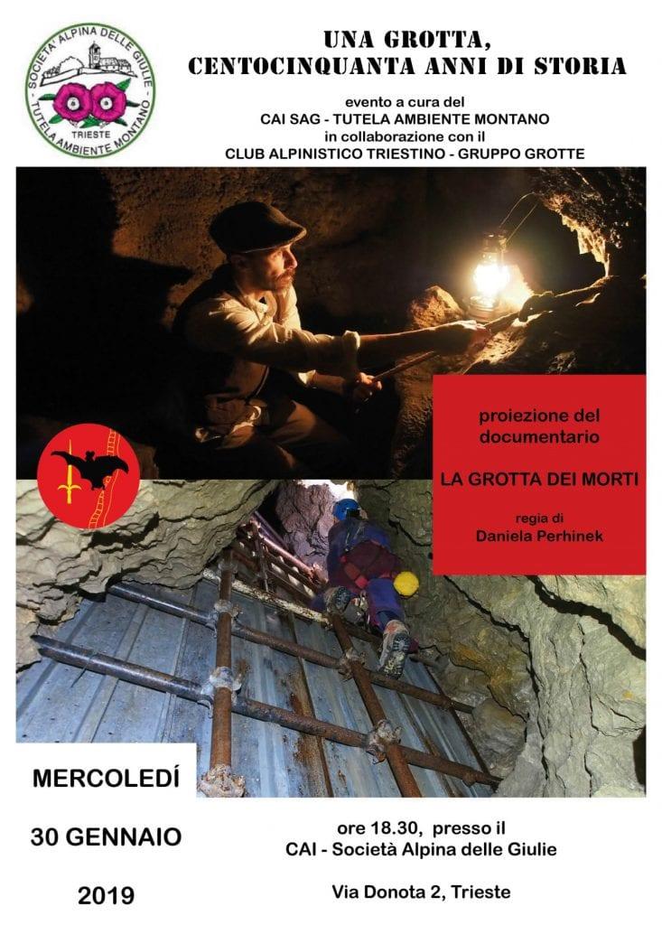 Locandina Grotta dei Morti TAM 2019