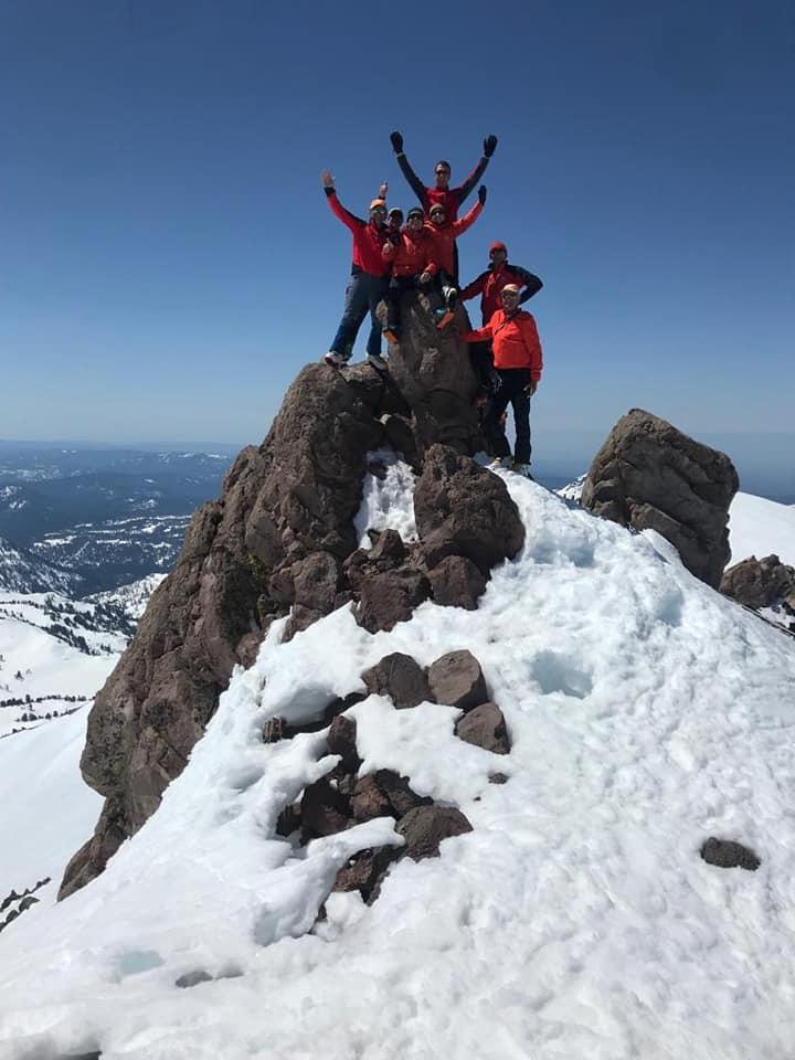 scialp california lassen peak gruppo cima