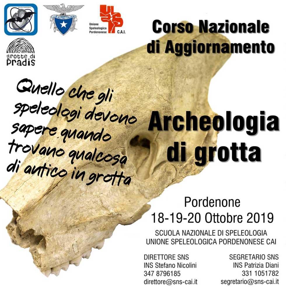 CGEB corso archeo speleo locandina