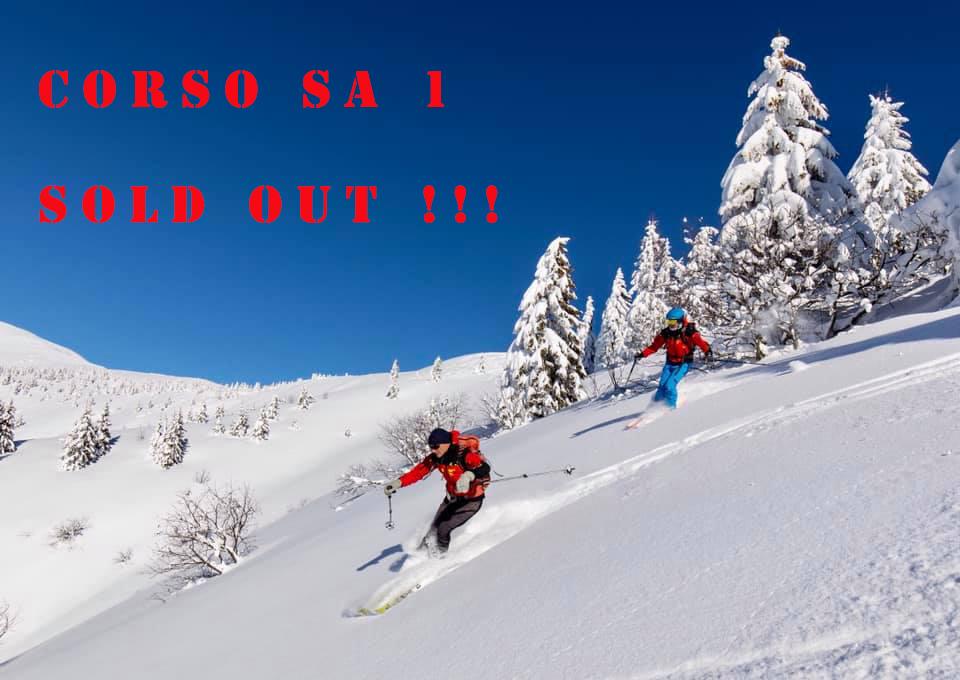 corso SA1 sold out scritta