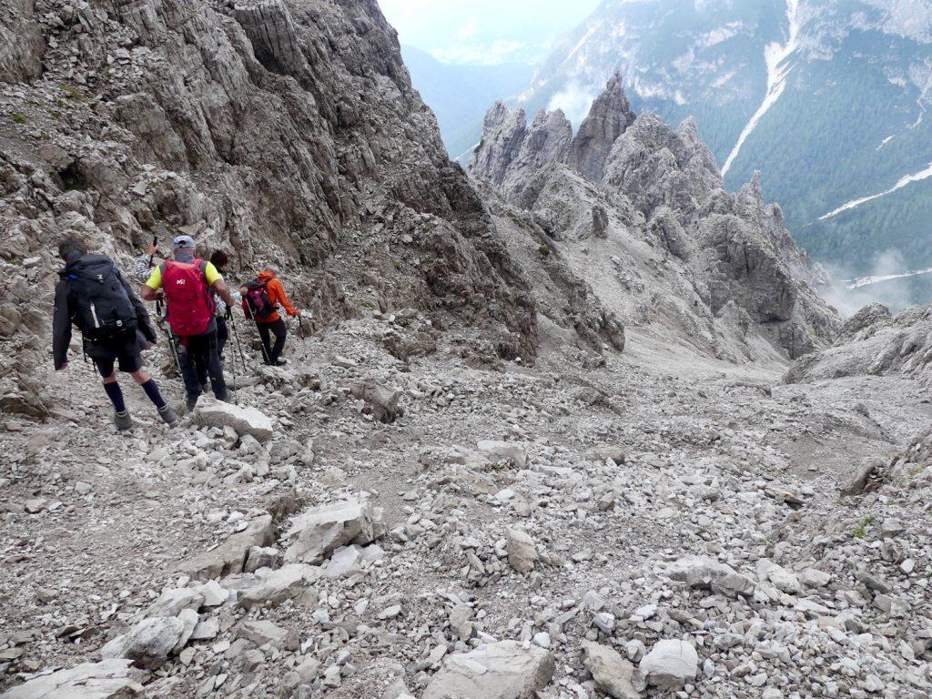 cesc trekkin dolomiti friulane 2021 17 Discesa versante nord Val Montanaia